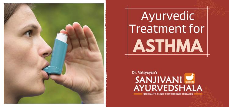 How is Asthma treated at Dr Vatsyayan's Sanjivani Ayurvedashala?